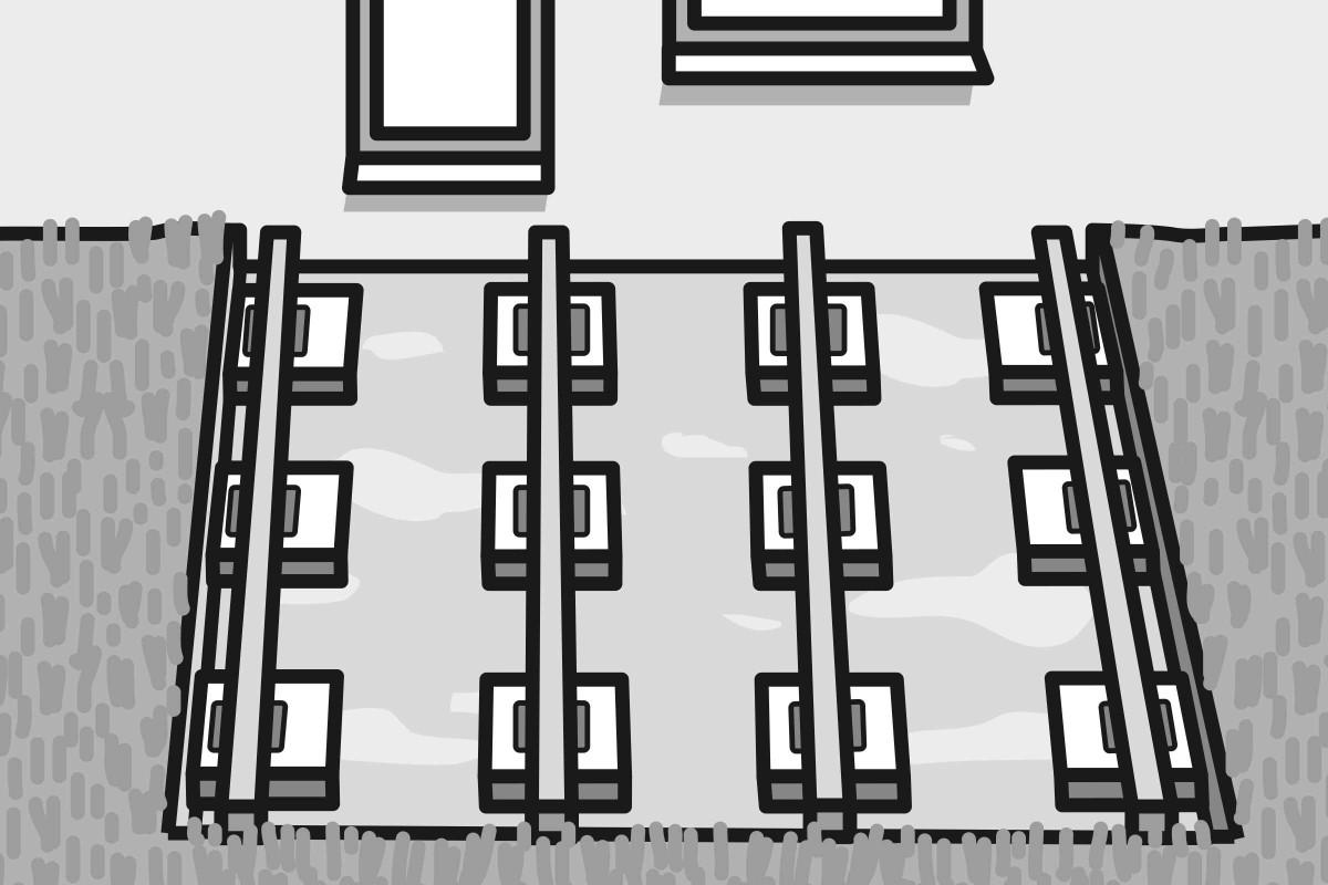 Variante 1: Terrasse auf Gehwegplatten