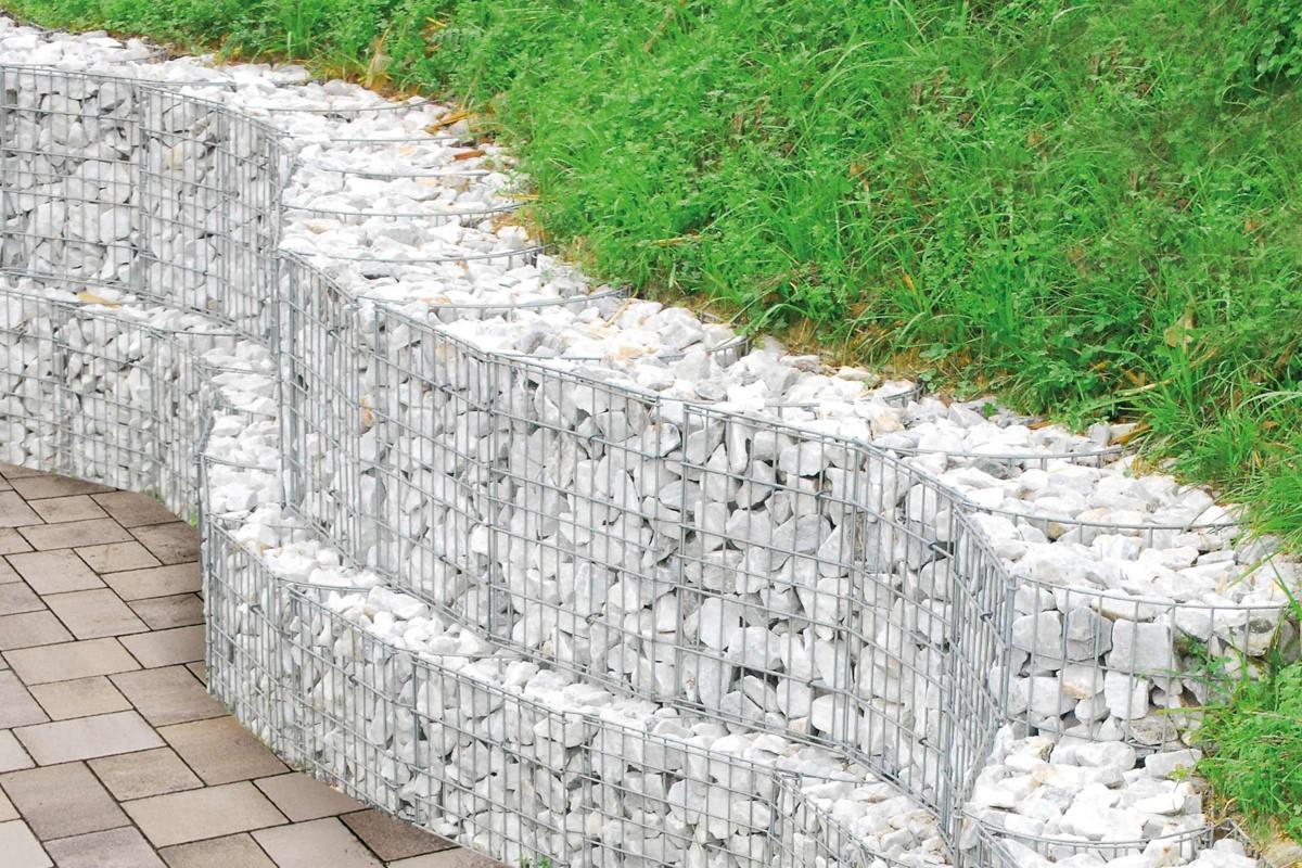 Gabione als Stützmauer