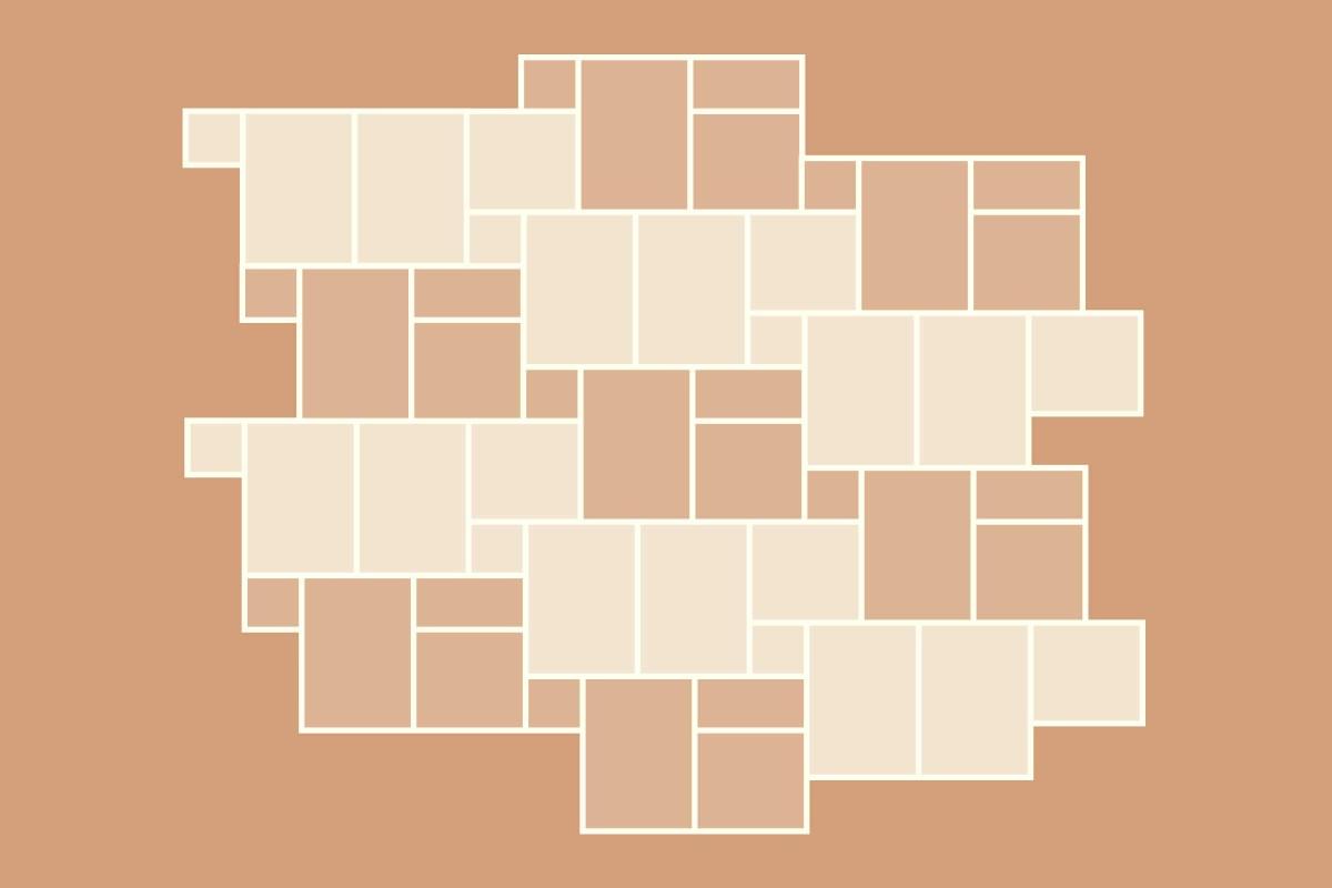 Verlegemuster 2 für Terrassenplatten Set «Richelieu»