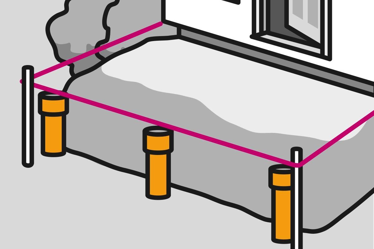 Variante 3: Terrasse auf Stelzen