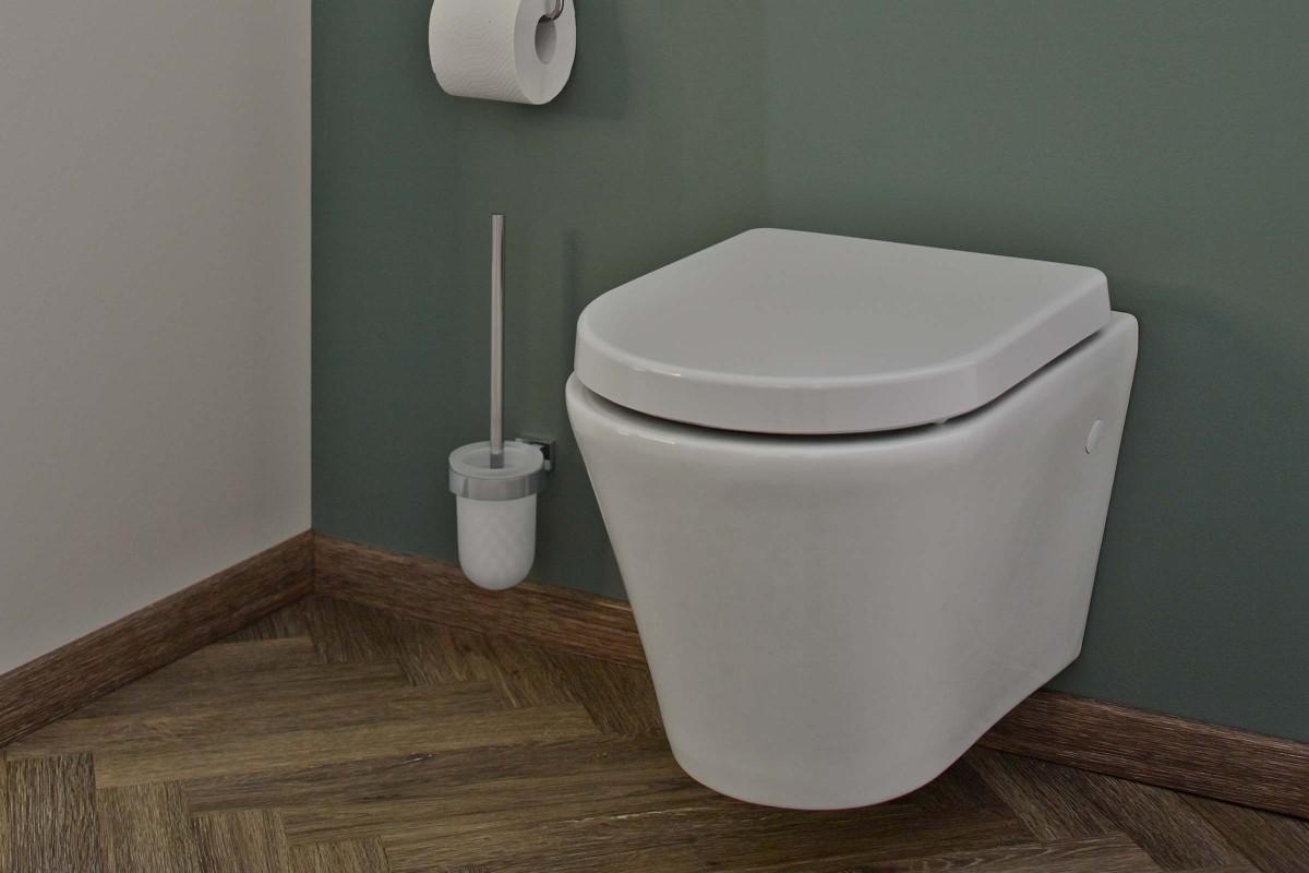 WC sans bord de chasse d'eau