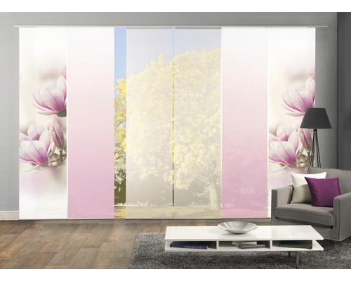 Flächenvorhang Home Fashion Magnene 60x245 cm 6er-Set
