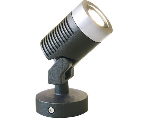 LED Aussenstrahler Season Lights Pro Olona 2 schwarz/silber mit Leuchtmittel 85 lm 3000 K warmweiss