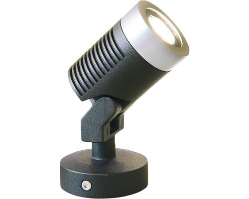 Projecteur extérieur LED Olona3, noir/argent, source lumineuse 190 lm 3000 K, blanc chaud, Season LightsPro