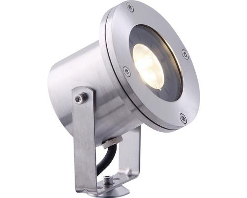 Projecteur extérieur LED Orba acier inoxydable, source lumineuse 190 lm 3000 K, blanc chaud, Season LightsPro
