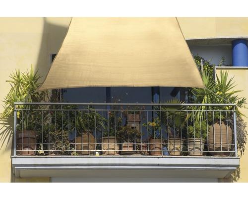 Balkonsonnensegel HDPE weizen 140x270 cm
