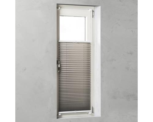 Store plissé Soluna avec haubanage latéral, taupe 60x130cm