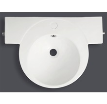 Lavabo Jungborn Evina blanc avec porte-serviettes intégré