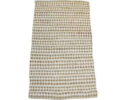 Tapis chenille Nature nœuds beige 120x180 cm