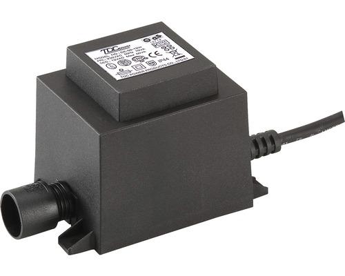 Trafo für Aussenbereich 12V / 60W AC schwarz Season Lights mit CH Stecker