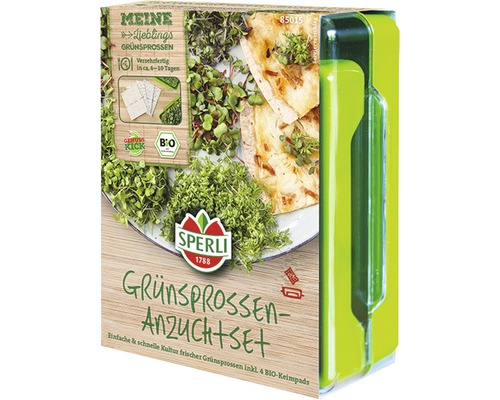 Grünsprossen-Anzuchtset Micro Green-Garden Sperli inkl. 4 Samen-Pads