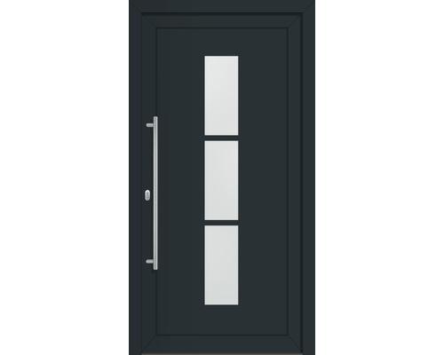 Haustür Komplettset Dakota Aluminium anthrazitgrau 110x210 cm DIN links
