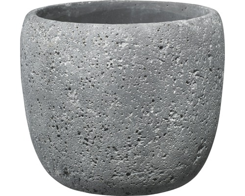 Pot de fleurs Bettona ciment Ø14 H12cm gris foncé