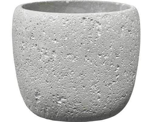 Pot de fleurs Bettona ciment Ø14 H12cm gris clair