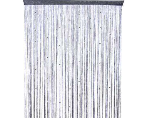 Fadenstore Perl hellgrau 90x200 cm