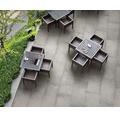 Flairstone Feinsteinzeug Terrassenplatte Loft Grey 120 x 60 x 2 cm rektifizierte Kante
