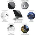 Solar LED Strahler Steinel Xsolar L-S silber mit Sensor 1,2W