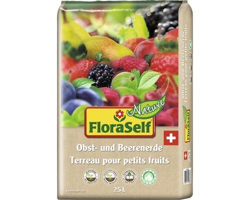 Terreau pour fruits et baies FloraSelf Nature® 25 l