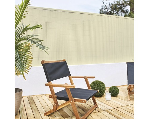 Sichtschutzmatte PVC Meterware 90 cm bambus