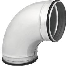 Coude arrondi de tube agrafé de Ø 100 mm 45 degrés