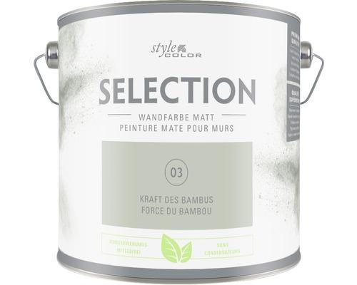 Premium Wandfarbe StyleColor SELECTION konservierungsmittelfrei Kraft des Bambus 2.5 l