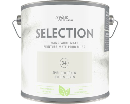 Premium Wandfarbe StyleColor SELECTION konservierungsmittelfrei Spiel der Dünen 2.5 l