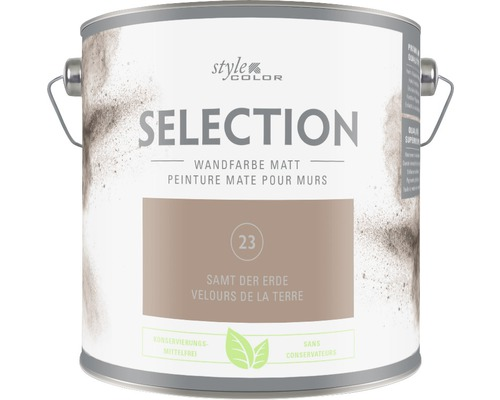 Premium Wandfarbe StyleColor SELECTION konservierungsmittelfrei Samt der Erde 2.5 l