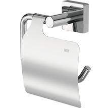 Porte-rouleau de papier toilette Lenz Rain chromé avec couvercle