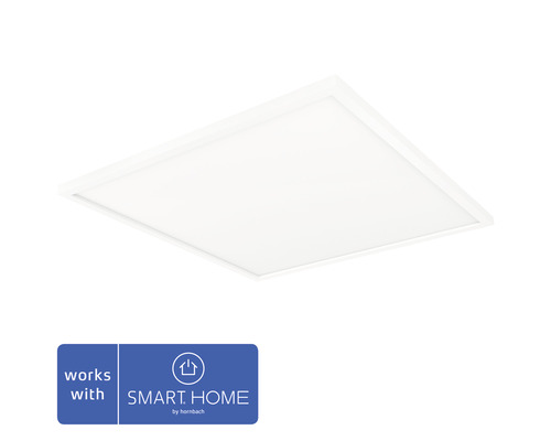 Hue LED Deckenleuchte 46,5W 4200 lm warmweiss-tageslichtweiss HxBxT 46x600x600 mm inkl Dimmschalter Aurelle weiss White Ambiance