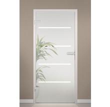Porte en verre Pertura Runa design à 4 rayures 83,4x197,2 cm gauche/droite