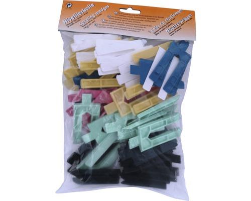 Nivelierkeile Mischpackung 1-6 mm Beutel 60 Stück