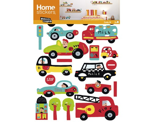 Wandtattoo Sticker Kids-Cars 49.5 x 69.5 cm