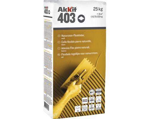 Akkit 403 Naturstein Flexkleber weiss 25 kg