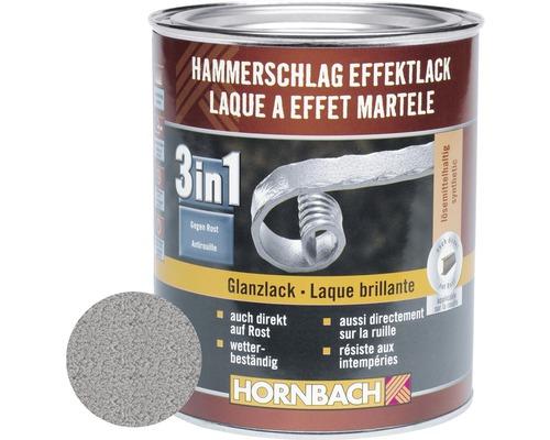 Hammerschlaglack Effektlack 3in1 glänzend silber 750 ml