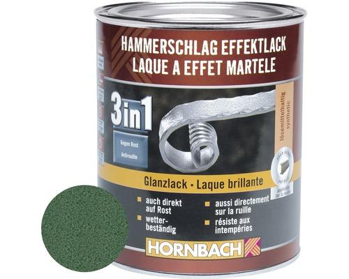 Hammerschlaglack Effektlack 3in1 glänzend dunkelgrün 750 ml