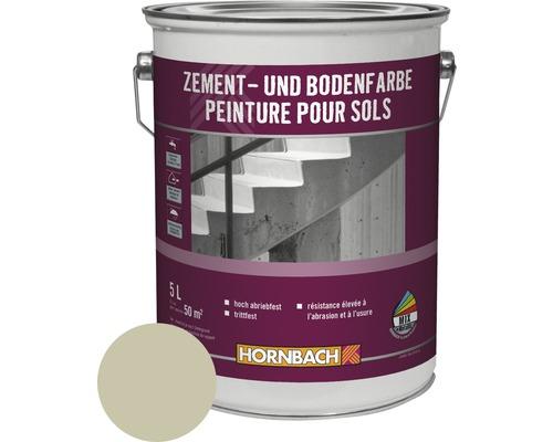 Zement- und Bodenfarbe hellgrau 5 l