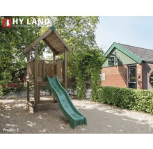 Tour de jeux Hyland Projekt 2 bois avec bac à sable, toboggan vert