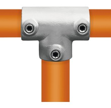 Pièce en T longue raccord de tube d'échafaudage en acier Ø 33 mm