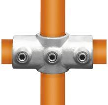Pièce en croix raccord de tube d'échafaudage 90° en acier Ø 33 mm