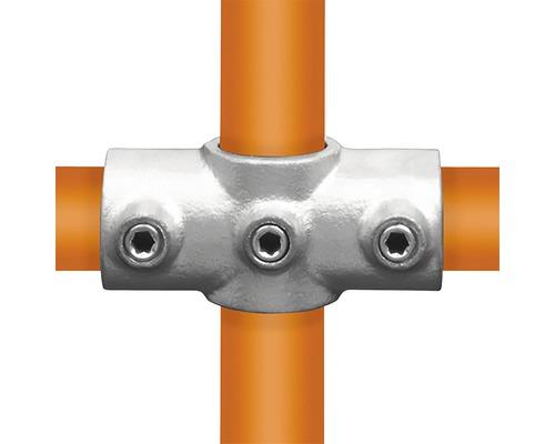 Kreuzstück Rohrverbinder 90° für Gerüstholz-Stahlrohr durchgehend Ø 33 mm