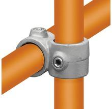 Pièce en croix raccord de tuyaux 90° disposé pour tube d'échafaudage en acier Ø 33 mm