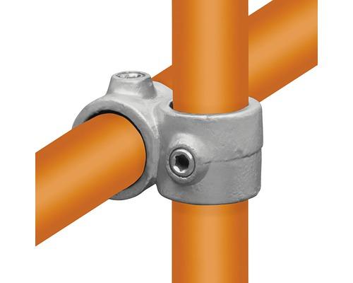 Kreuzstück Rohrverbinder 90° vorgesetzt für Gerüstholz-Stahlrohr Ø 33 mm