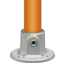 Embase ronde pour tube d'échafaudage en acier Ø 33 mm