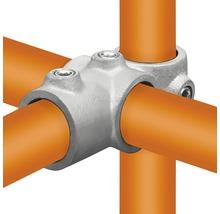 Pièce en T en croix combinée 90° pour tube d'échafaudage en acier Ø 33 mm