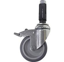 Roue blocable pour tube d'échafaudage en acier Ø 33 mm