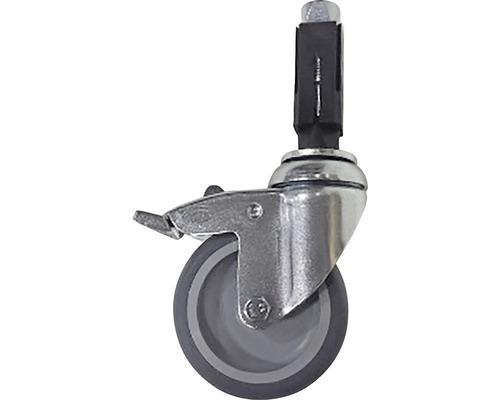 Rolle für Gerüstholz-Stahlrohr feststellbar Ø 33 mm
