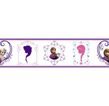 Selbstklebende Bordüre Frozen Eiskönigin Frames lila