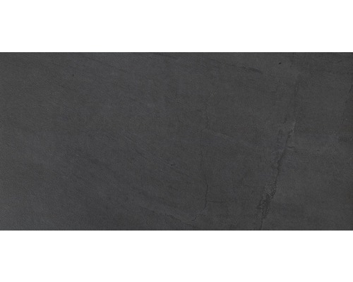 Bodenfliese Ego slate schwarz 30x60 cm
