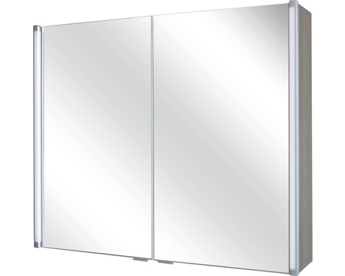 Spiegelschrank Aruba LED Line 80 cm Eiche Cognac kaufen bei HORNBACH.ch
