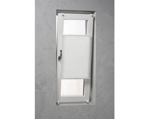 Store plissé Soluna avec haubanage latéral, blanc, 90x240cm